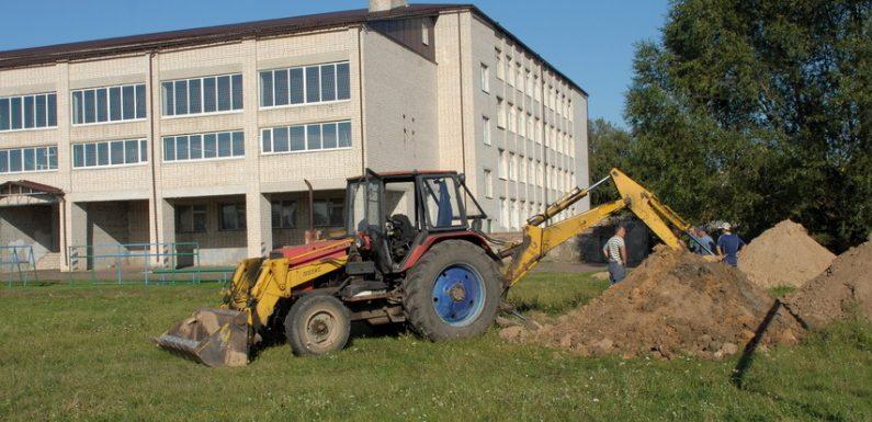 🔴 📸 В Ямполі тривають роботи по відновленню водопостачання школи №2