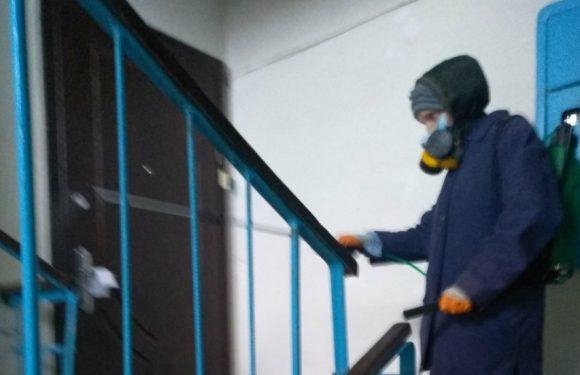 В Ямполі провели дезінфекцію під'їздів