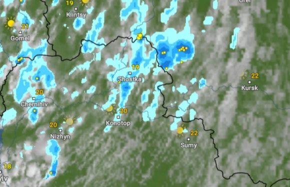 Грози, зливи та град: на півночі Сумщини погіршення погодних умов