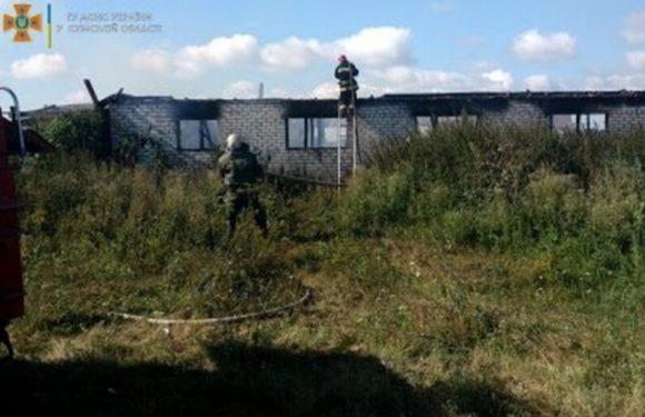 В Микитівці горіла ферма: пожежні врятували від вогню 15 свиней, 5 корів та 7 кіз