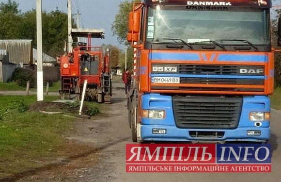 Підготовка до ремонту: на аварійну ділянку дороги Ямпіль-Свеса завозять будівельну техніку